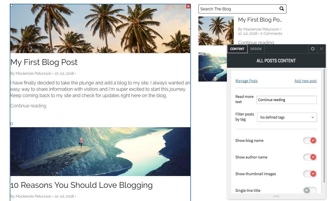 Adding a Blog
